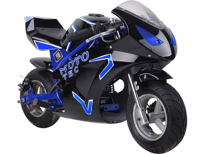 Gas Pocket Bike GT 49cc 2-stroke Blue
