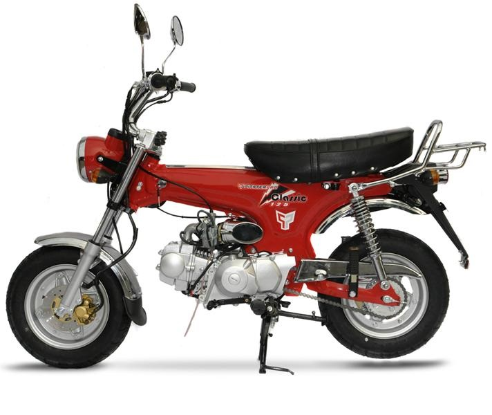 Mini Classic Trail 125 Motorcycle 4 Speed Manual