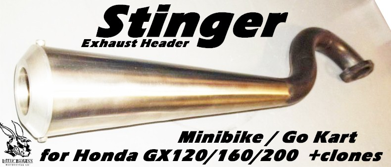 Stinger Exhaust Header, for Mini Bike or Go Kart
