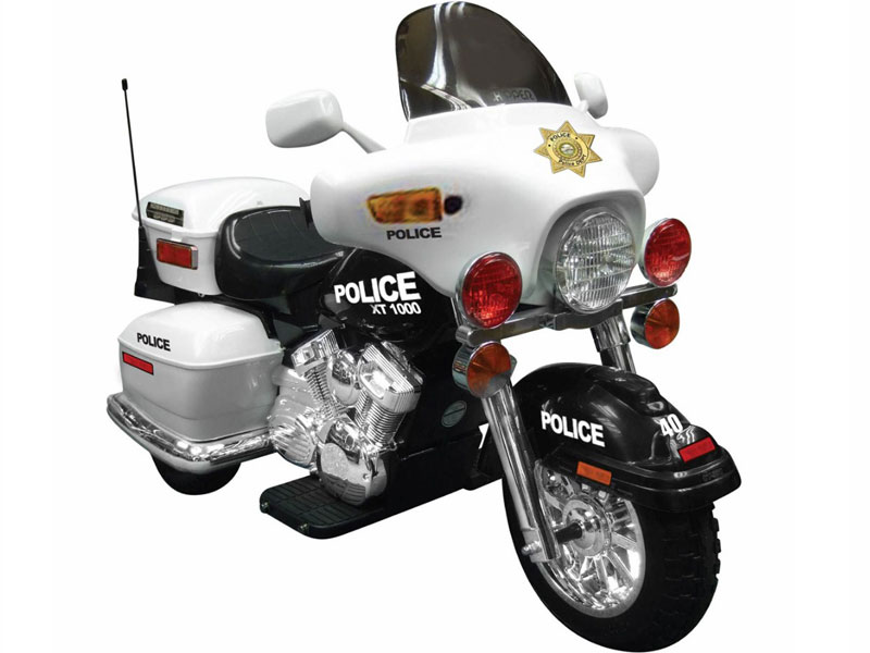 Kids Ride-On Electric Police Motorcycle,