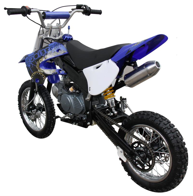 Coolster 125F Dirt Pit Bike, 4-Speed, Manual, Mid Sized, Kick Start, 55mph,  (14/12)