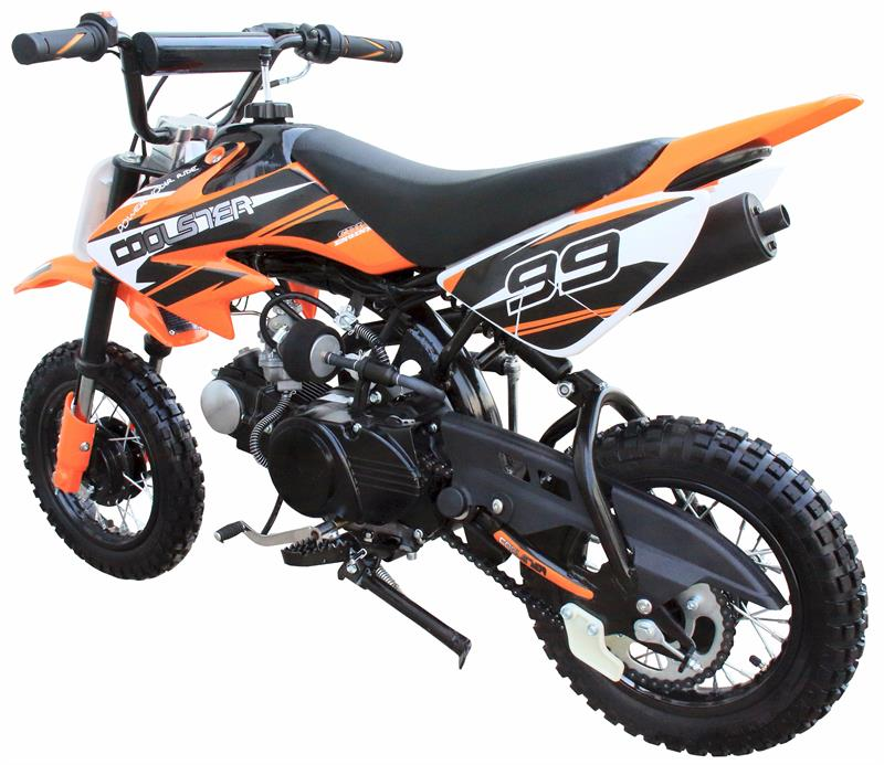 Coolster 110F MX Dirt Pit Bike, Fully-Automatic, Mid Sized, Electric Start,  (10/10)