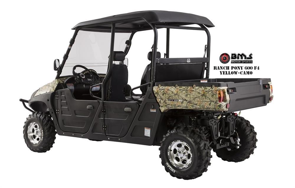 bms ranch pony 4 seater efi 600cc utv side x side. Black Bedroom Furniture Sets. Home Design Ideas