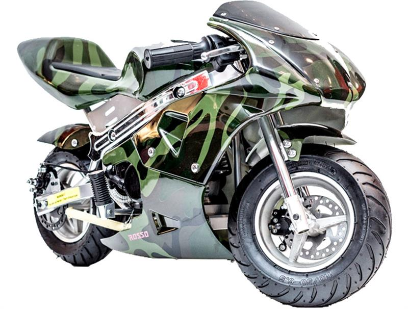 Gas Pocket Bike 33cc 2-Stroke Army