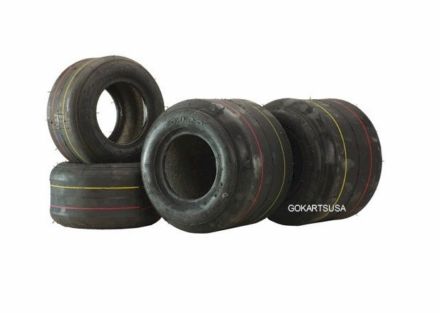 Set of 4 Tires (2 front, 2 rear), for Kid Kart