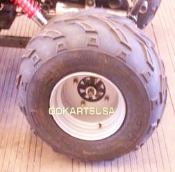 REAR WHEEL (AND TIRE) ASSY L, for TrailMaster 150 XRS Buggy Gokart