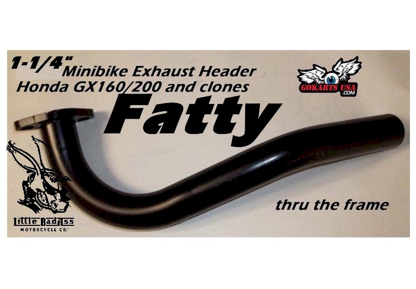 Fatty Exhaust Header, Minibike Gokart Honda GX120/160/200 and clones
