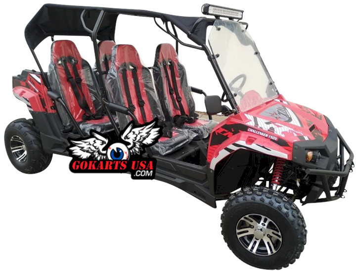 TrailMaster Challenger 200X 4-Seater UTV Side by Side Go Kart