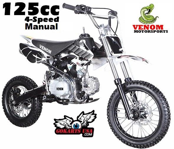Venom 125 4-Speed Manual Pit Bike