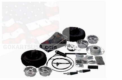 3541-LF Minibike Rebuild Kit, Less Frame. 6 in. Aluminum Wheels