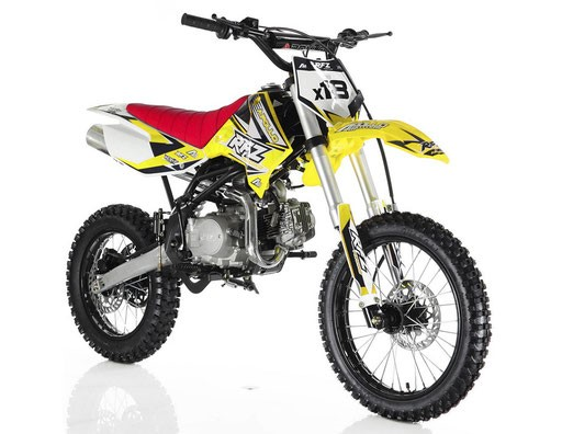 Apollo RFZ 125cc Dirt Bike, 4-Speed Manual