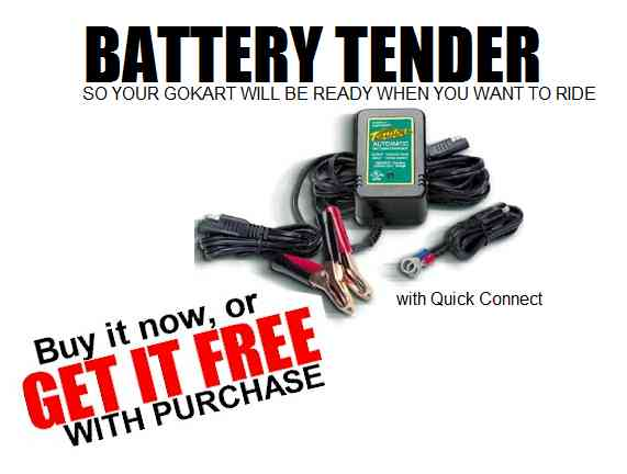 Battery Tender Charger : Go Kart, Buggy, ATV, Motorcycle 12V