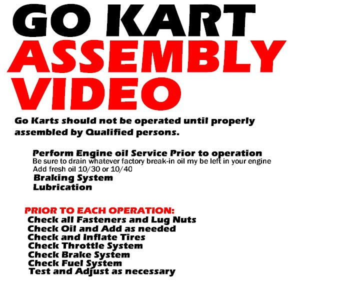 Go Kart Instruction Video | Assembly | Maintainence | Safety