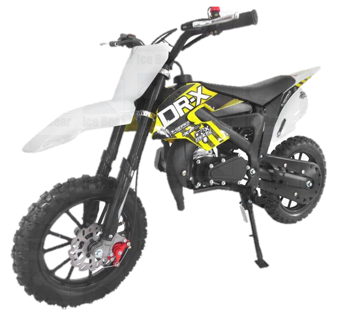 IceBear Holeshot-X 50cc Kids Dirt Bike, 2-Stroke, Automatic