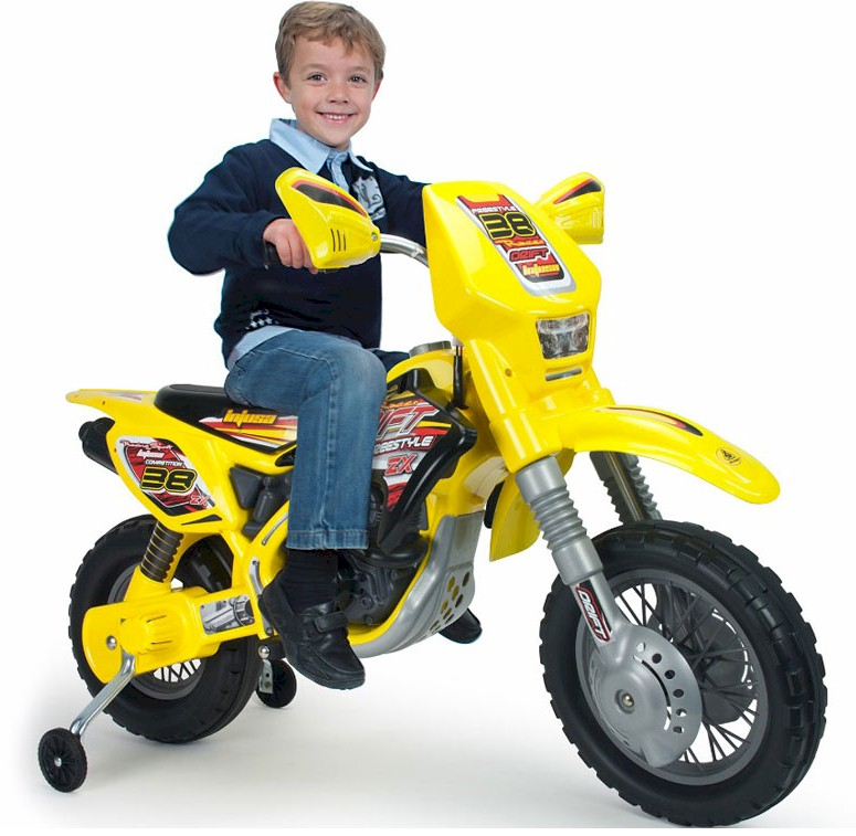 Kids MX Electric Dirt Bike, 12v with Training Wheels