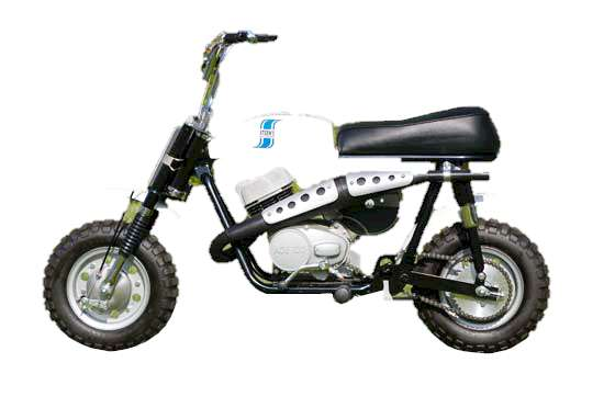 Taco F85 Matterhorn Minibike, Hodaka Ace 100 2-Stroke with 5-Speed