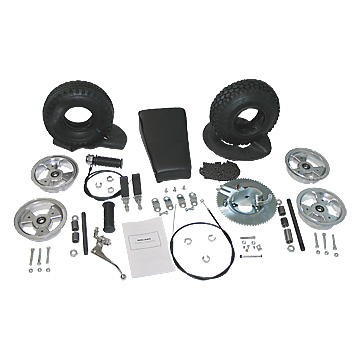 3544-LF Minibike Rebuild Kit, Less Frame. 10 in. Steel Wheels