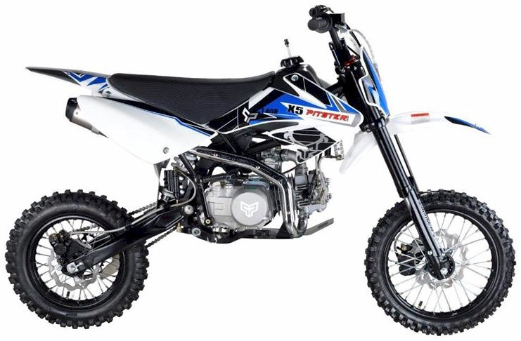 PitsterPro X5 155R Dirt Bike, 4-Speed Manual Clutch