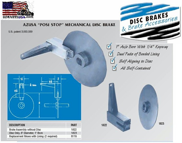 Disc Brake assembly Go Kart