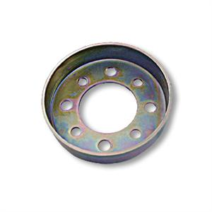 BRAKE DRUM, for 4in Band Brake, NO FLANGE, 2.875 in. BOLT CIRCLE, ZINC PLATED