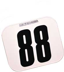 Number Plate, Rectangular Class C Plate white 10x12
