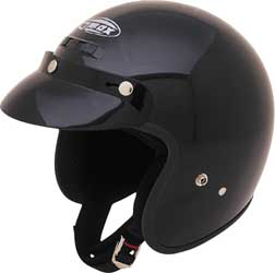 Go Kart Helmet, Open Face, Black