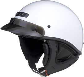 GMAX GM35 HALF HELMET, Dressed, White