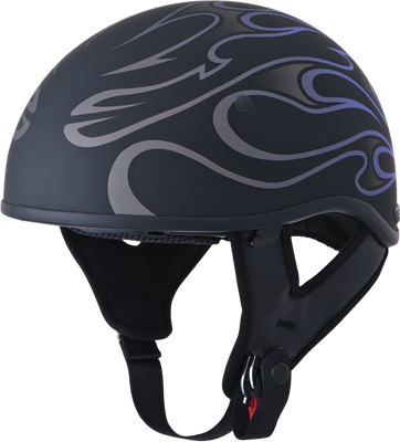 GMAX .357 HALF HELMET, Purple Flame