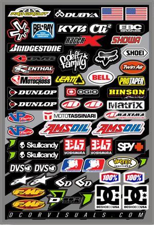 Large Logo Decal Kit V4 Race Kart Dirt Bike