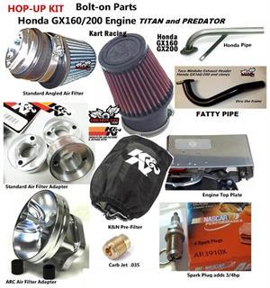 Hop up kit go kart engine upgrade kit for stock honda gx120160 gx200 hop up kit bolt on engine upgrade for honda gx160200 fandeluxe Choice Image