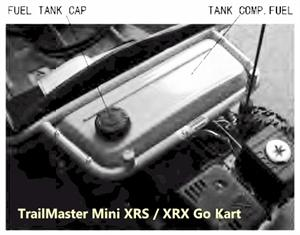 FUEL TANK COMP, for TrailMaster Mini XRS XRX Go Kart