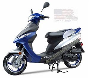 Roketa MC-10 Maui 50ST Moped Scooter