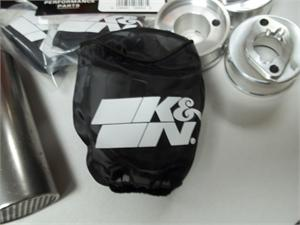 The K&N Pre-Filter really looks great on your Go Kart or Mini Bike