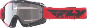 ZONE GOGGLE Red/Black w/ Clear/Flash Chrome Lens