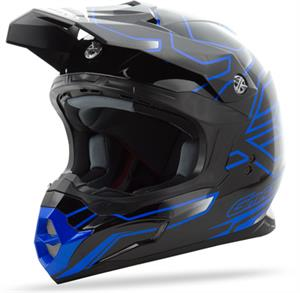 GMAX MX86 STEP HELMET Black/Black/Blue