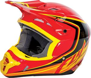 FLY RACING KINETIC FULLSPEED HELMET Red/Black/Yellow