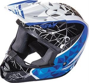 FLY RACING KINETIC CRUX HELMET White/Black/Blue