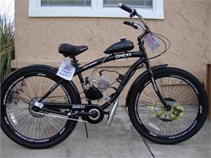 Zenith Motorized Bicycle, Pedals with Gas Engine