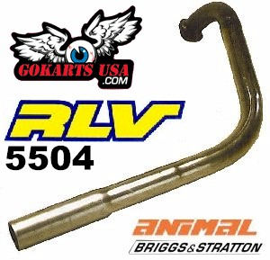 RLV Curved Pipe Only, for Briggs Animal, Best Top End