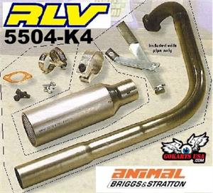 RLV Curved Pipe Kit, for Briggs Animal, Best Top End