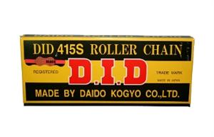 D.I.D.#219 CHAIN GOLD ON BLACK FINISH, 104 LINK.
