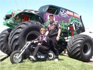 Grave Digger Paul and Tina on Little BadAss Minichopper