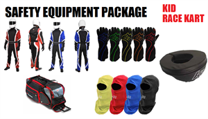 Kid Race Kart Safety Equipment Package