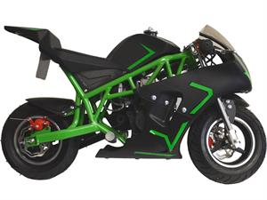 Cali Gas Pocket Bike 40cc, 4-Stroke, Green