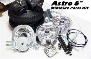 Minibike Parts Kit, Astro wheels
