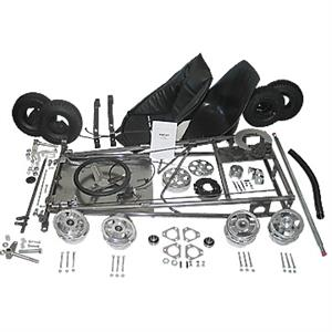 3551 Go Kart Kit, 5 in. Aluminum Wheels