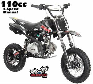 SR110BLACKx dirt bikes for kids pit bikes 50 70 110 125 ssr coolster apollo 90Cc Dirt Bike at virtualis.co