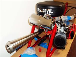 Stinger Minibike Exhaust on Frijole Minibike