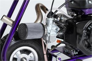 Fatty Exhaust shown with Mikuni Carb, for Honda GX120/160/200 and clones