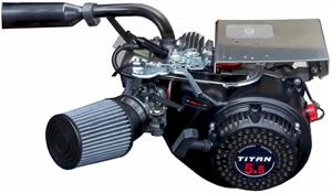 This Kit with Honda Clone Pipe and Standard Air Filter installed on a Titan